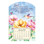 Web Exclusives - Mini Magnetic Calendar Serenity Prayer