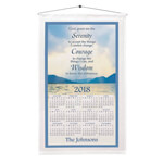 World Religion Day  - Personalized Serenity Prayer Calendar Towel