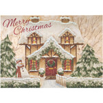 New - Personalized Cozy Cottage Christmas Cards - Set of 20