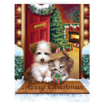 New - Personalized Puppy and Kitten  Christmas Cards - Set of 20