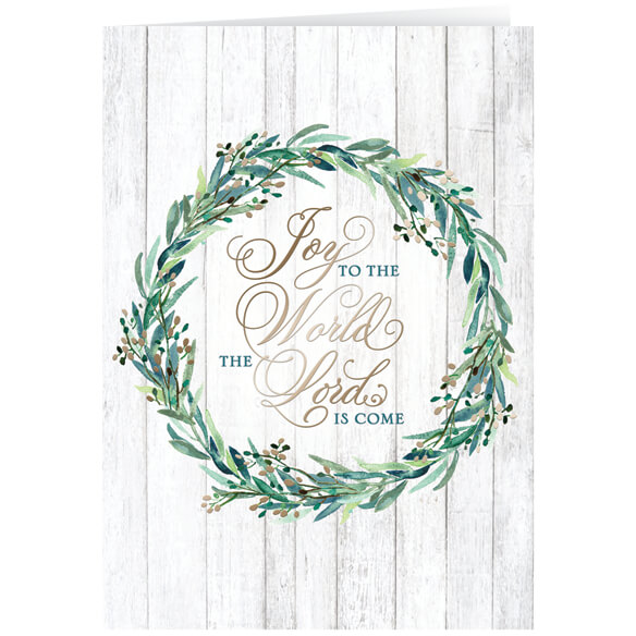 Personalized Joy to the World Christmas Cards - Set of 20