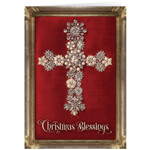 Christmas Cards - Personalized Jeweled Cross Collage Christmas Cards - Set of 20