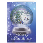 Christmas Cards - Personalized Winter Snowglobe Christmas Cards - Set of 20
