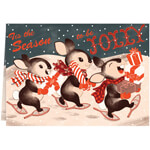 Christmas Cards - Personalized Jolly Bunny Trio Christmas Cards - Set of 20