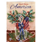 New - Patriotic Blessing Bookmark Christmas Card Set of 20