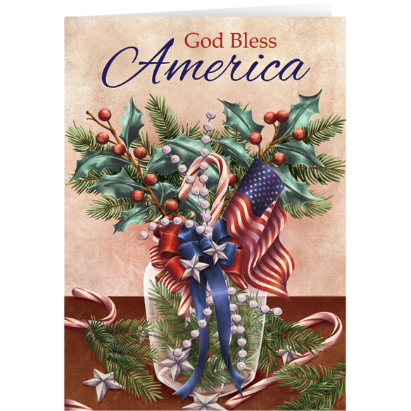 Patriotic Blessing Bookmark Christmas Card Set of 20 - View 1