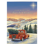 Christmas Cards - Personalized Hearts Come Home for Chistmas Cards - Set of 20