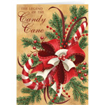 New - Personalized Legend of Candy Cane Scented Christmas Cards - Set of 20