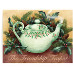 Christmas Cards - Personalized Friendship Teapot Christmas Cards - Set of 20