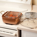 Bakeware & Cookware - 4-Pc. Square Copper Cookware Pan Set