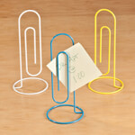 Home Office - Jumbo Paper Clip Note Holders, Set of 3