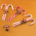 Gifts for All - Reindeer Candy Cane Holders, Set of 6
