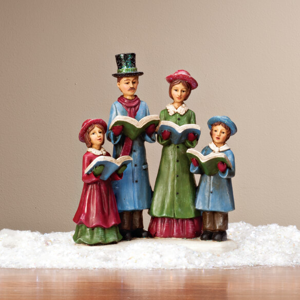 Victorian Carolers Shop Collectibles Online Daily: Resin Christmas Caroler Family