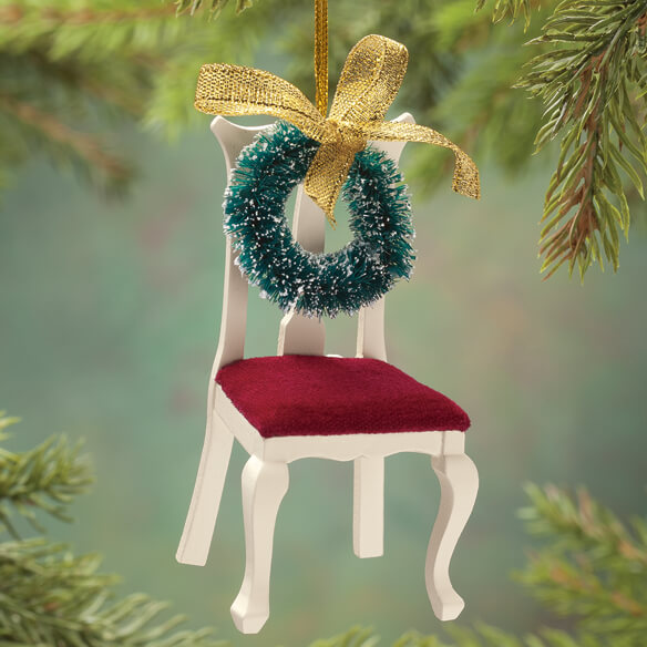 """An Empty Chair"" Memorial Ornament - View 1"