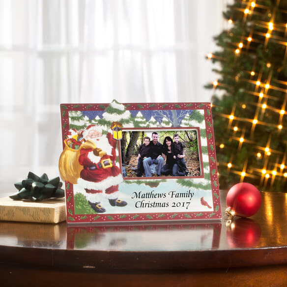 2017 Hand Painted Christmas Frame Horizontal - View 1