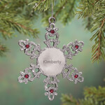 Ornaments - Personalized Birthstone Snowflake Pewter Ornament