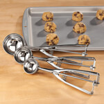 Gadgets & Utensils - Stainless Steel Cookie Scoops, Set of 3