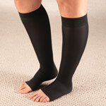 Footwear & Hosiery - Celeste Stein Open Toe Compression Socks, 15–20 mmHg