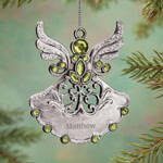 Ornaments - Personalized Birthstone Angel Pewter Ornament