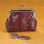 New - Weave Coin Purse Assorted