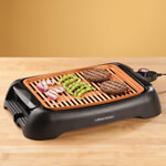"Gifts for the Chef or Baker - NonStick Ceramic Copper 13"" Countertop Electric Grill by HMP"