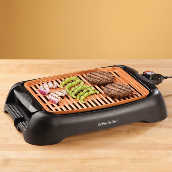 Nonstick Ceramic Copper 13 Quot Countertop Electric Grill By