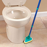 New - Telescoping Angled Scrubber with 3 Replacement Pads