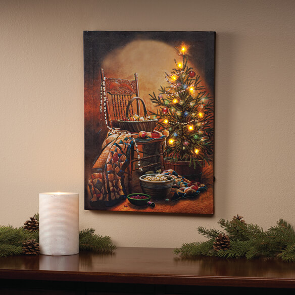 Doug Knutson Christmas Lighted Canvas by Northwoods - Walter Drake