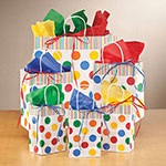 Decorations & Storage - Polka Dots Gift Bags, Set of 40