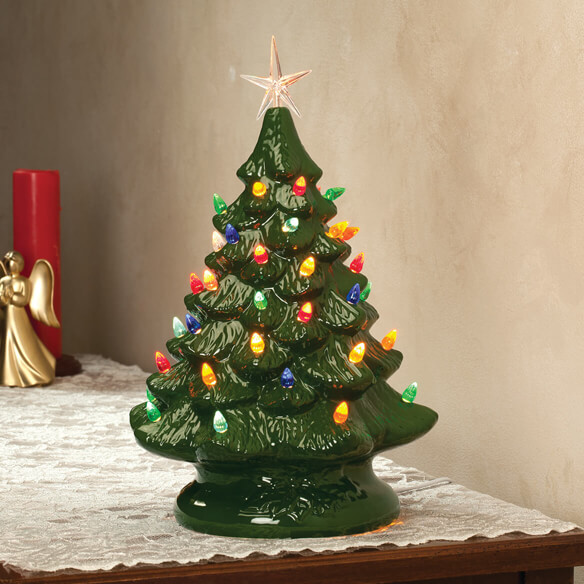 Nostalgic Ceramic Christmas Tree Ceramic Tree Walter Drake