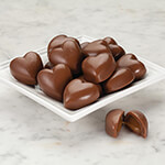 Candy & Fudge - Milk Chocolate Caramel Filled Hearts