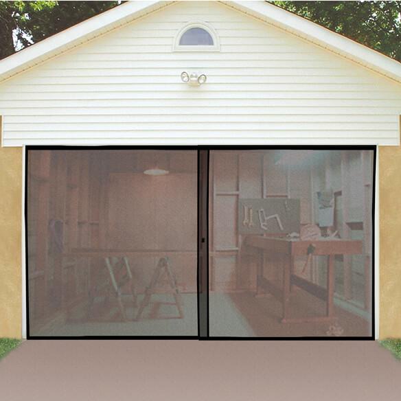 Garage door screen screen door for garage walter drake for 18 x 8 garage door screen