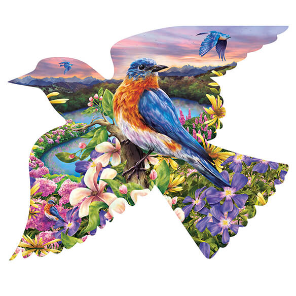 Bird Shaped Puzzle, 588 Pieces