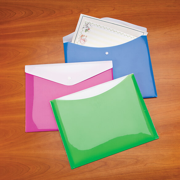 Large Poly Envelopes with Snap Closure, Set of 6