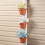 New - Downspout/Pole Planters, Set of 3
