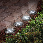 New - In Ground Solar Lights, Set of 4
