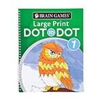 Hobbies - Brain Games® Large Print Dot to Dot Version 1 Owl Cover
