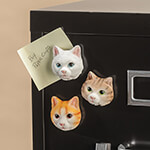 Home Office - Cat Face Magnets, Set of 3