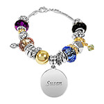 Jewelry Collection - Personalized Two-Tone Multi Color Charm Bracelet