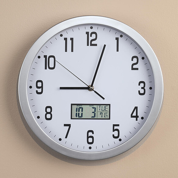 Easy Read 12 Quot Multifunction Wall Clock Led Wall Clock