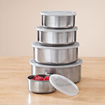 New - Stainless Nested Bowls with lids, set of 10