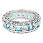 Jewelry Collection - Birthstone and CZ Sterling Silver Ring
