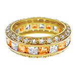 Jewelry Collection - Birthstone and CZ Gold Plated Ring