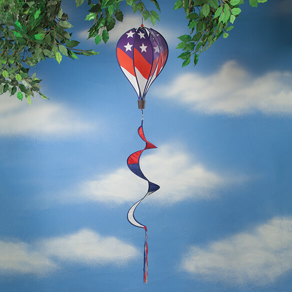 patriotic air balloon wind spinner
