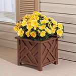 New - Brown Chippendale Planter