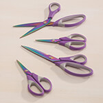 Home Office - Purple S/4 Titanium Scissors