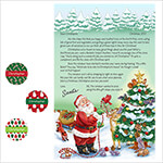 Gifts for All - Personalized Christmas Letter from Santa with Stickers 2017