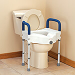New - Bariatric Raised Toilet Seat with Arms