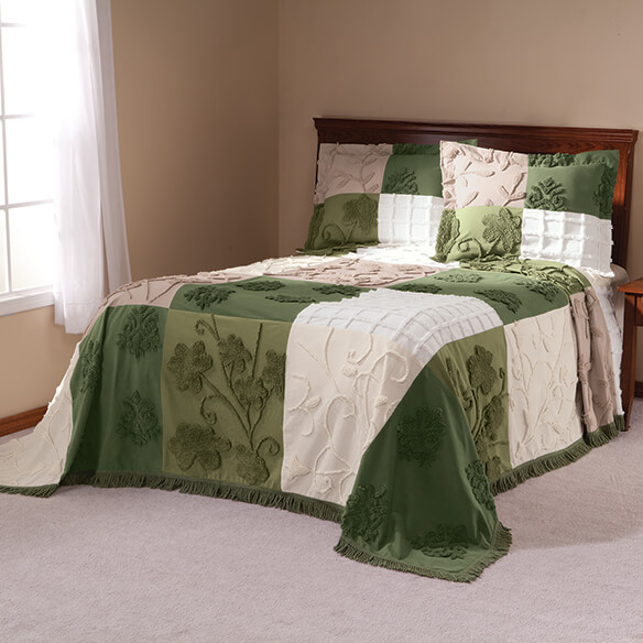 Patchwork Bedspread/Sham Queen Sage by OakRidge™
