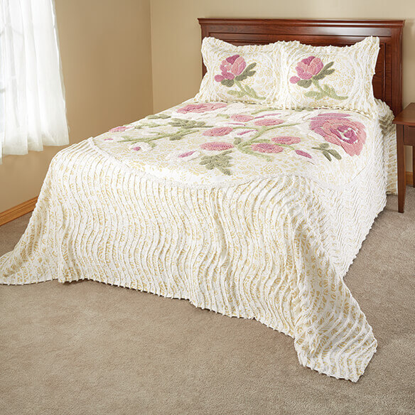 Helen Chenille Bedspread/Sham Twin by OakRidge™ - View 1
